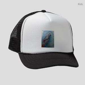 African Grey! Parrot! Kids Trucker hat