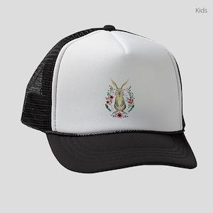 Cute Beige Rabbit in the Meadow Kids Trucker hat