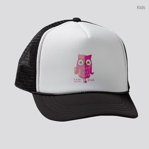 I love the color. Pink owl. Kids Trucker hat