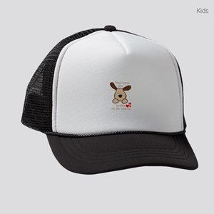dogs leave paw prints on our hear Kids Trucker hat
