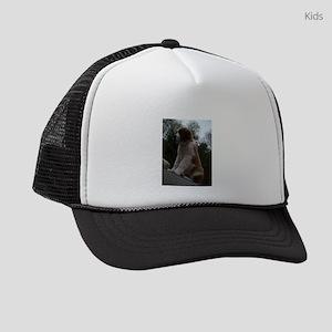 saint bernard sitting 3 Kids Trucker hat