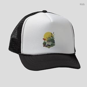 Vintage Frog Choir Singing Kids Trucker hat