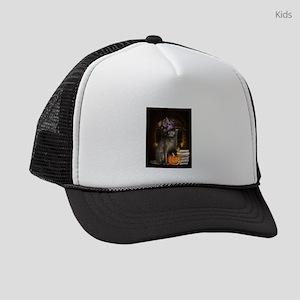 Witch Kitty Cat Kids Trucker hat