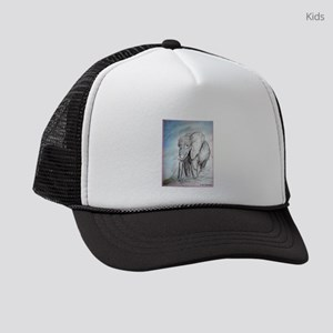 Elephant! Wildlife art! Kids Trucker hat