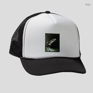 rainbow-trout-fish-jumping Kids Trucker hat