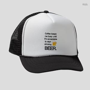 Coffee Until Beer Kids Trucker hat