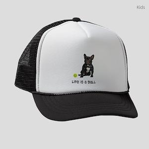 French Bulldog Life Kids Trucker hat