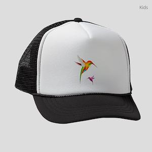 Colorful Hummingbirds Birds Kids Trucker hat
