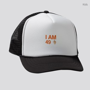 I Am 49+ 50 Years Old 50th Birthd Kids Trucker hat
