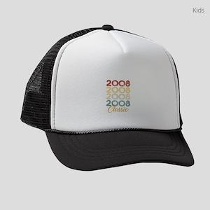 Vintage Retro Born In 2008 11th B Kids Trucker hat