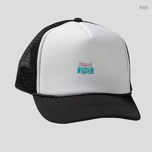 Eat Sleep Drag Race Repeat Street Kids Trucker hat