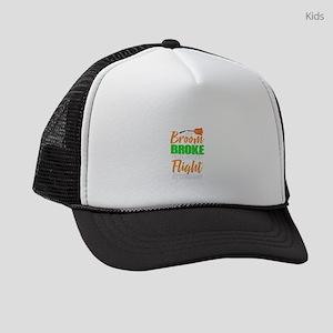 Funny Broom Broke Flight Attendan Kids Trucker hat