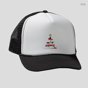 Christmas Trucker Tree Trucker Gi Kids Trucker hat