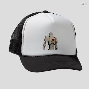 Robot soviet space propaganda Kids Trucker hat