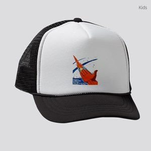 rocket soviet space propaganda Kids Trucker hat
