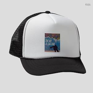 The Ice is Calling Hockey Kids Trucker hat