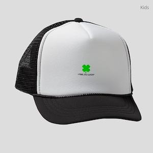 I feel so lucky Kids Trucker hat