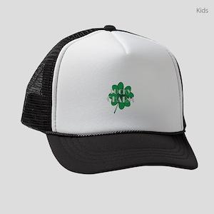 Lucky Charm Four Leaf Clover St. Kids Trucker hat