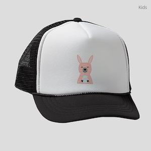 Pink Llama Holding Easter Egg Kids Trucker hat