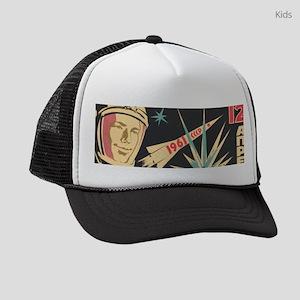 soviet astronaut space propaganda Kids Trucker hat