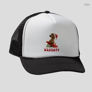 Naughty Dachshund Kids Trucker hat