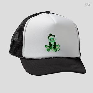 St. Patrick's Day Green Panda Kids Trucker hat