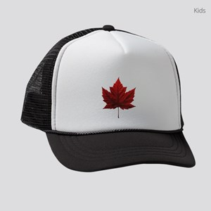 Canada Maple Leaf Souvenir Kids Trucker hat
