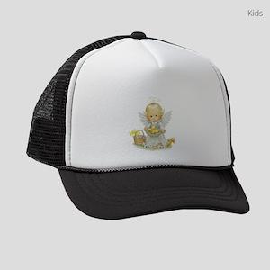 Cute Easter Angel And Ducklings Kids Trucker hat