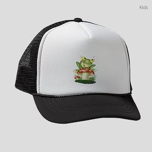 Frog Toad stool Kids Trucker hat