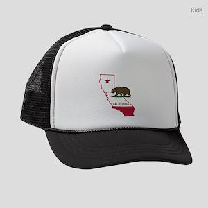 CALI STATE w BEAR Kids Trucker hat