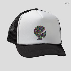 Rainbow Afro Woman Silhouette Kids Trucker hat