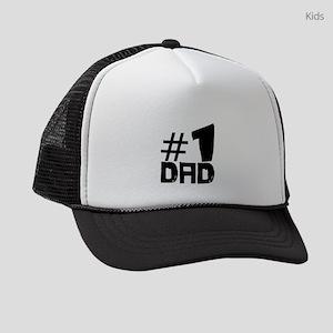 #1 Dad Kids Trucker hat