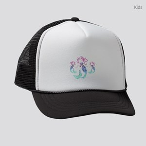Mystical Mermaid with Two Daughte Kids Trucker hat
