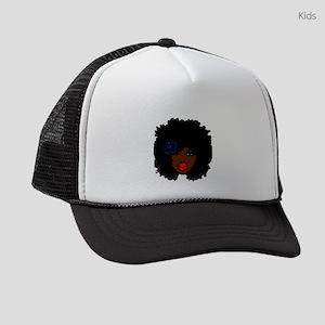 BrownSkin Curly Afro Natural Hair Kids Trucker hat