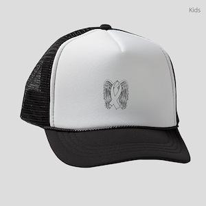 Winged Awareness Ribbon (White) Kids Trucker hat