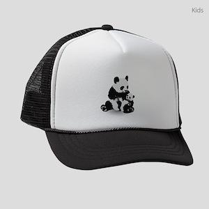 Panda & Baby Panda Kids Trucker hat