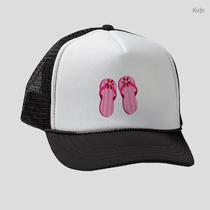 Pink Flip Flops Kids Trucker hat