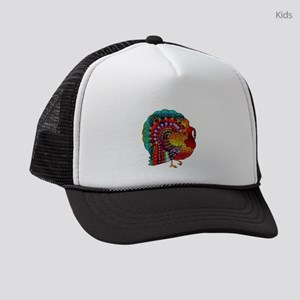 Thanksgiving Jeweled Turkey Kids Trucker hat