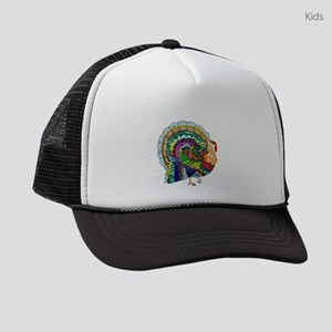 Patchwork Thanksgiving Turkey Kids Trucker hat