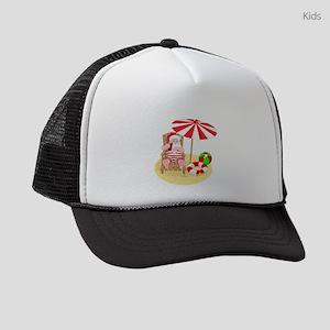 beach santa claus Kids Trucker hat