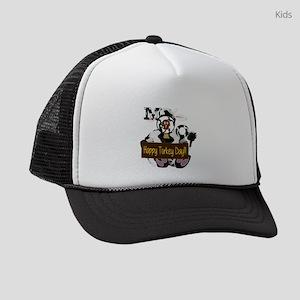 Turkey Day Humor Kids Trucker hat