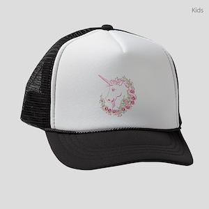 Unicorn and Roses Kids Trucker hat
