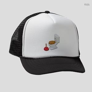 ToiletLargePlunger051411 Kids Trucker hat
