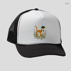 St. Patrick's Day Cat Kids Trucker hat