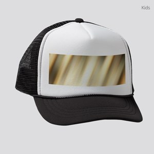 abstract pattern champagne gold Kids Trucker hat