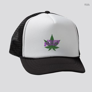 Epilepsy Survival with Marijuana Kids Trucker hat