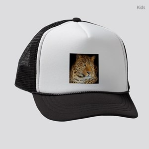 Leopard Portrait Kids Trucker hat