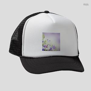Flowers and Butterflies Kids Trucker hat