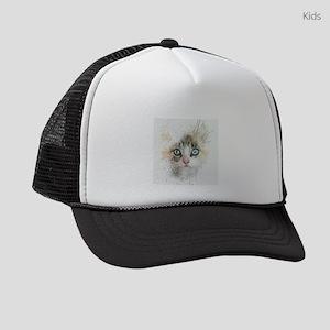 Kitten Painting Kids Trucker hat