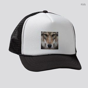 Realistic Wolf Painting Kids Trucker hat